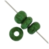 1/0 Rocaille 6.6mm Medium Green/marble
